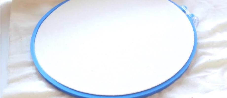 Curso básico de bordado ¿Cómo usar el aro o bastidor para bordado ...