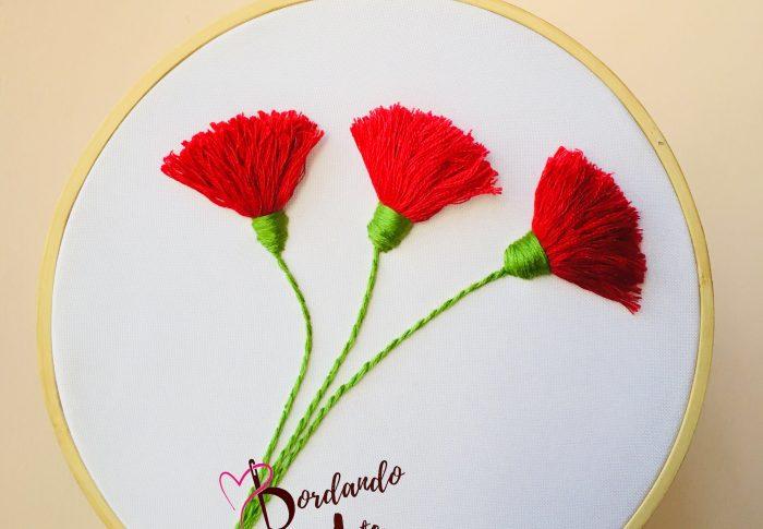 Bordando flores 3D gratis