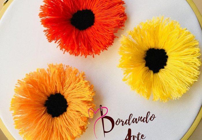 Bordando flores en 3D gratis