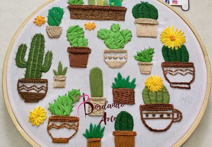 Bordar cactus y nopales paso a paso