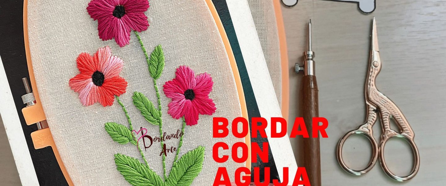 Bordar flores con aguja mágica Punch needle