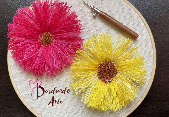 Bordar flores 3D con aguja mágica